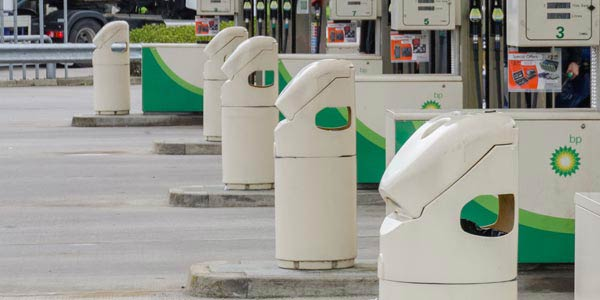 Auto-mate afvalcontainer voor tankstations
